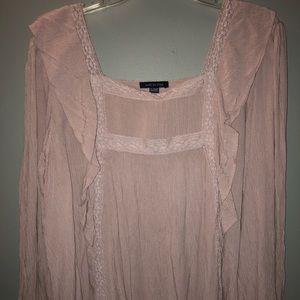 Light pink long sleeved blouse